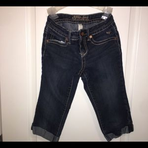 Justice Capri shorts jeans size 10 girls